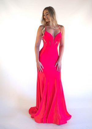 7316 Pink Prom dress