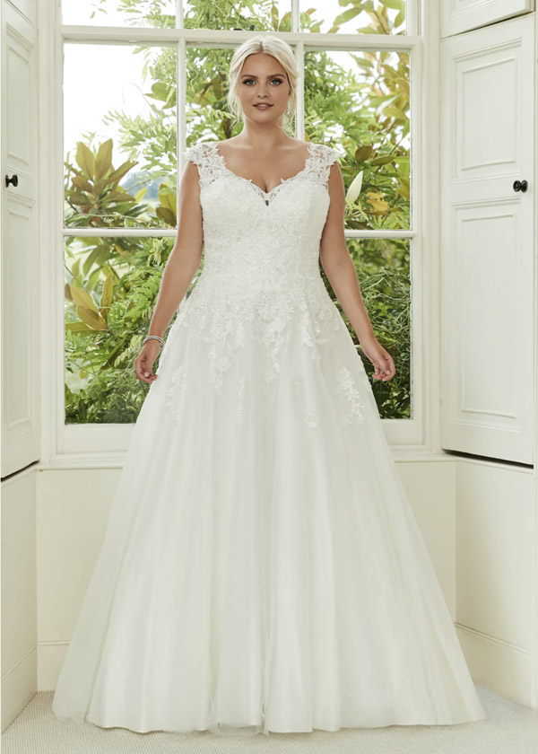 Plus size wedding gown at Roberta's Bridal Stoke-on-Trent