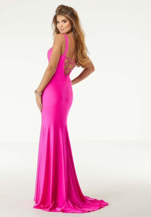 Morilee Neon Silky Jersey Sheath Prom Dress - 45047