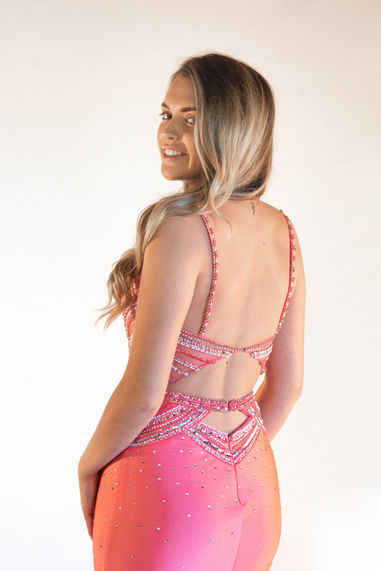 7304 Prom dress back - sale