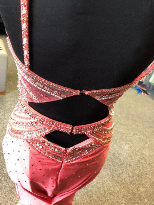 7304 Prom dress back - sale