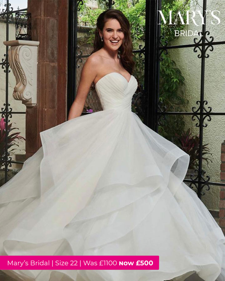 Mary's bridal wedding dress that is in the sale