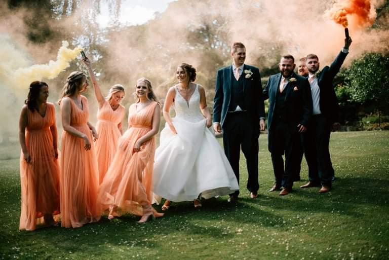 Aimee Johnson's wedding party