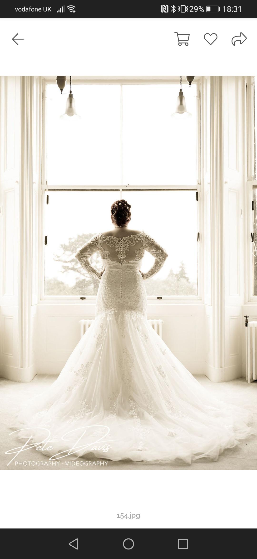 Bride Charlotte Whitfield in her Mori Lee dress