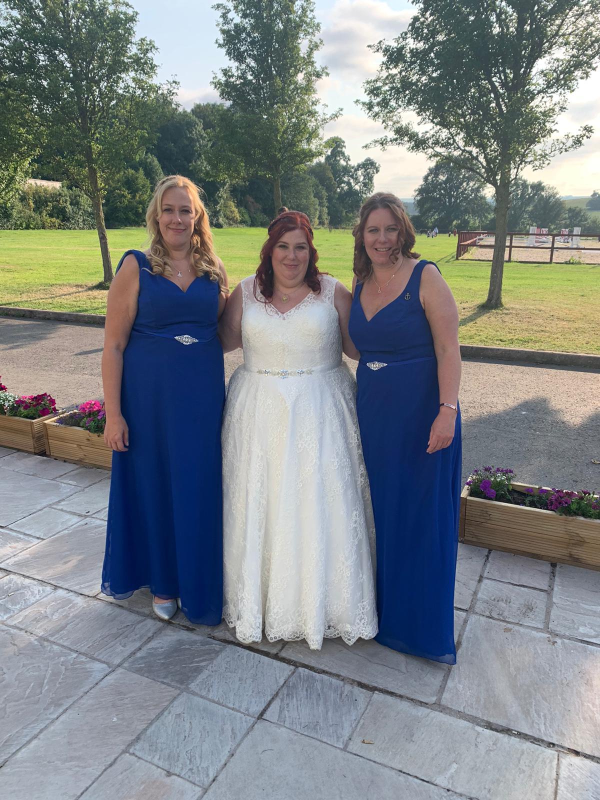 Elena Armitt with her bridesmaids