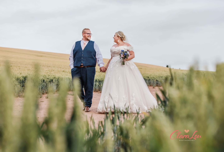 Bride Katy and her husband Shaun Boughton