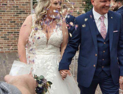 Mori Lee gown was perfect for Lisa's vow renewal