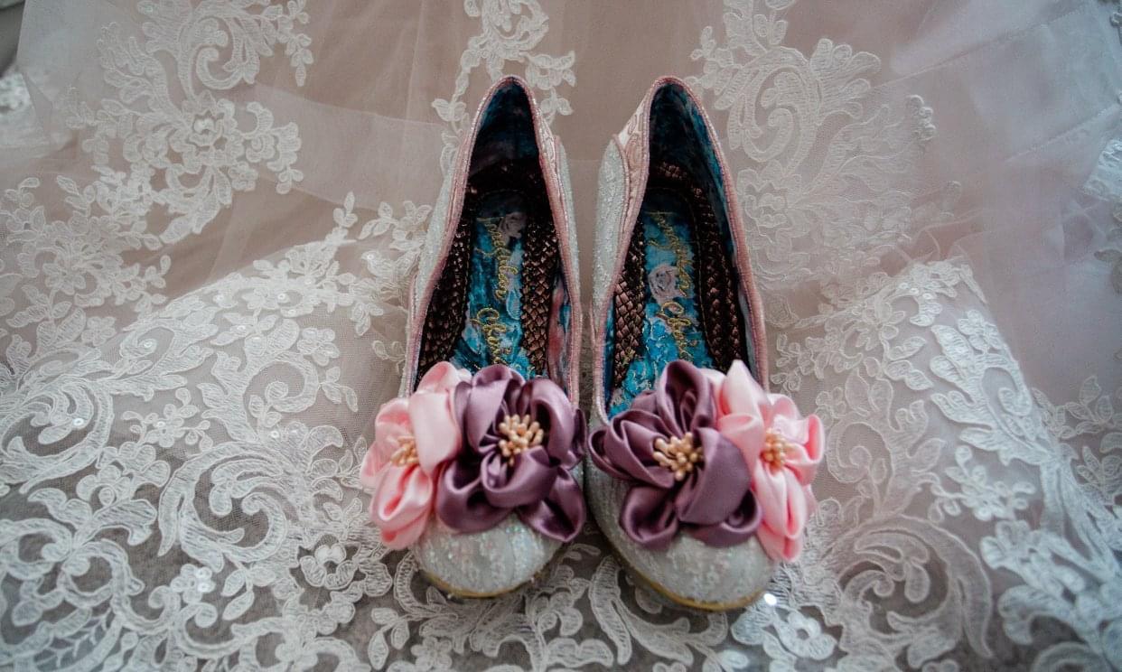 Lizzie Tomkinson's wedding shoes